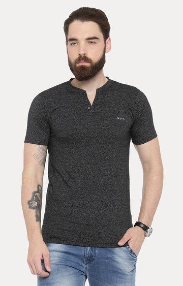 With | Black Melange T-Shirt