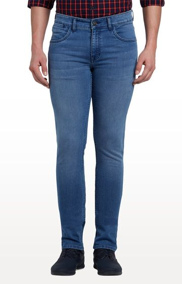 ColorPlus | Light blue Solid Straight Jeans