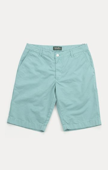 ColorPlus | Green Solid Shorts