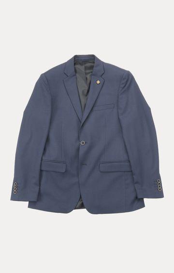 ColorPlus   Dark Blue Solid Blazer