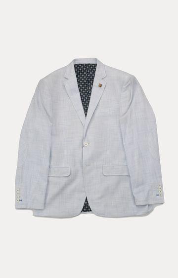 ColorPlus   White Checked Blazer