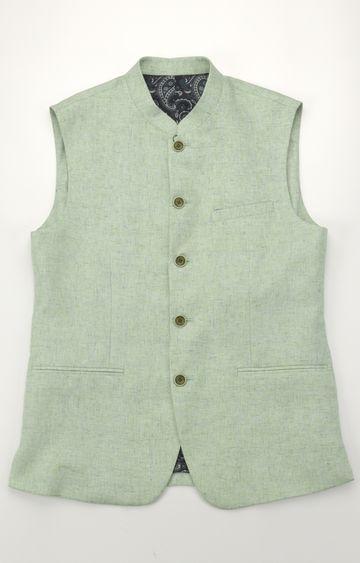 ColorPlus | Green Melange Ethnic Jacket