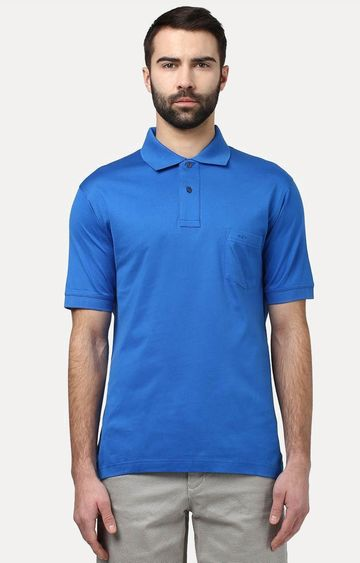 ColorPlus | Blue Solid T-Shirt