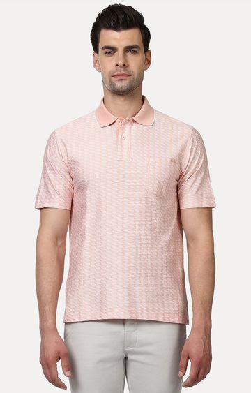 ColorPlus   Peach Printed Polo T-Shirt