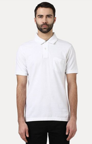 ColorPlus | White Solid T-Shirt