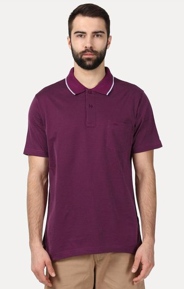 ColorPlus | Maroon Solid Polo T-Shirt