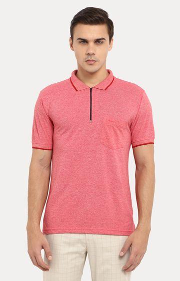 ColorPlus   Pink Melange Polo T-Shirt