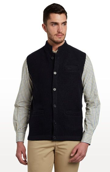 ColorPlus | Black Solid Ethnic Jacket