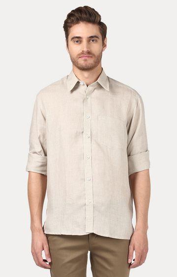 ColorPlus | Fawn Melange Casual Shirt