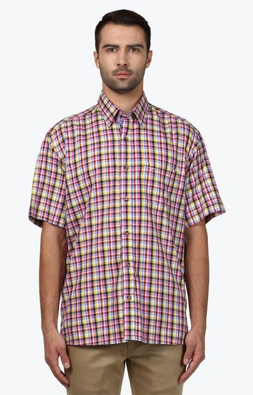 ColorPlus | Multicoloured Checked Casual Shirt