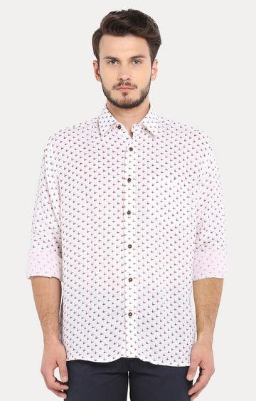 ColorPlus | White Printed Casual Shirt