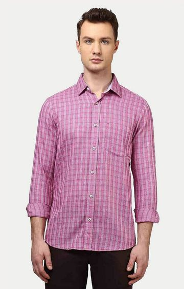 ColorPlus | Pink Checked Casual Shirt