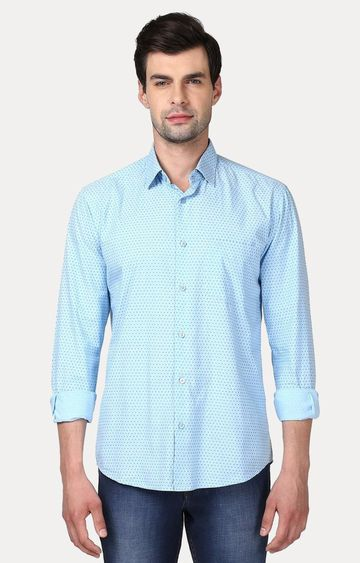 ColorPlus | Blue Printed Casual Shirt