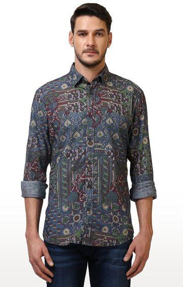ColorPlus | Multicoloured Printed Casual Shirt