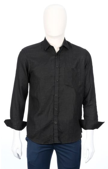 ColorPlus | Black Solid Casual Shirt