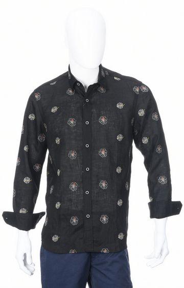 ColorPlus | Black Printed Casual Shirt