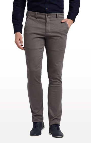 ColorPlus | Grey Contemporary Fit Flat Front Formal Trousers