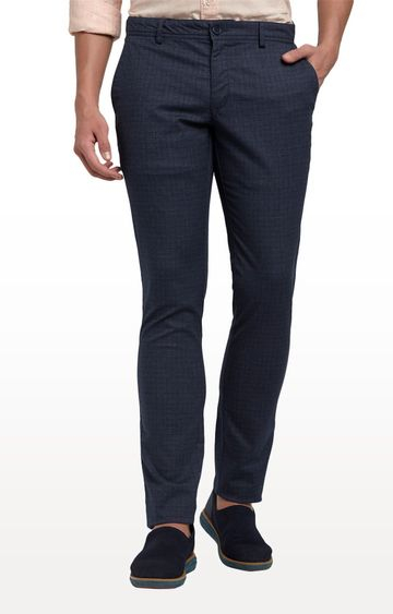 ColorPlus | Blue Contemporary Fit Flat Front Formal Trousers