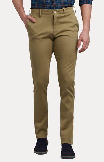 ColorPlus | Khaki Flat Front Formal Trousers
