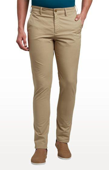 ColorPlus   Medium Khaki Flat Front Formal Trousers