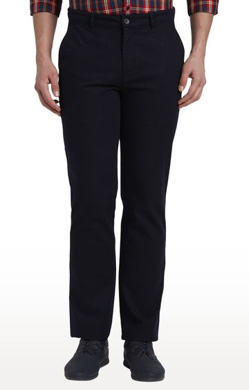 ColorPlus | Navy Flat Front Formal Trousers