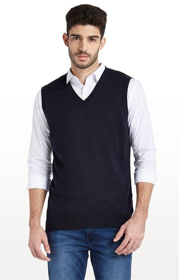 ColorPlus | Navy Solid Sweater