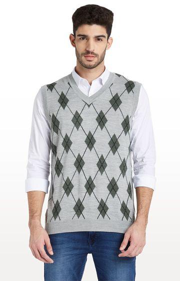 ColorPlus   Medium Grey Printed Sweater