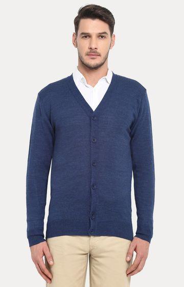 ColorPlus   Blue Solid Cardigan