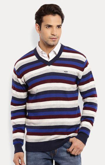 ColorPlus | Multicoloured Striped Sweater