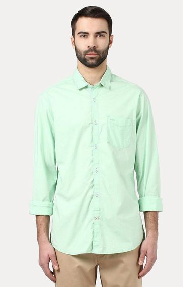 ColorPlus | Green Solid Casual Shirt