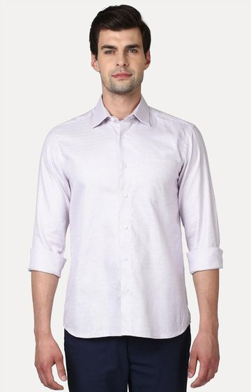 ColorPlus | Mauve Solid Casual Shirt