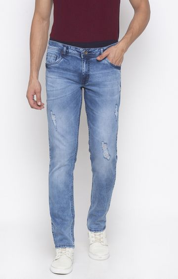 globus | Blue Ripped Slim Fit Jeans