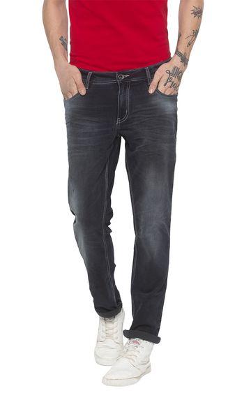 globus | Grey Solid Slim Fit Jeans