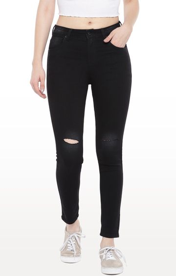 globus | Black Ripped Tapered Jeans