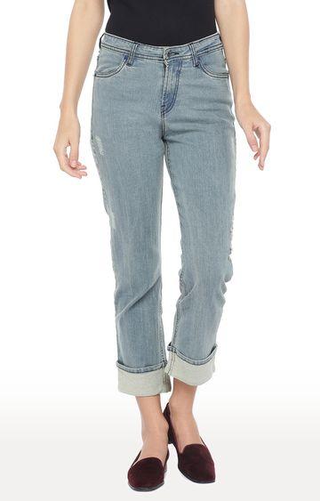 globus   Blue Ripped Slim Fit Jeans