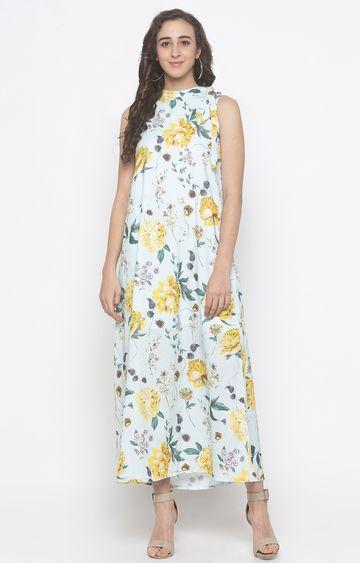 globus   Green Floral Maxi Dress