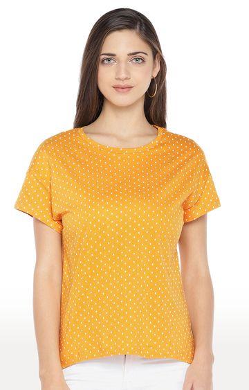 globus | Yellow Printed Top