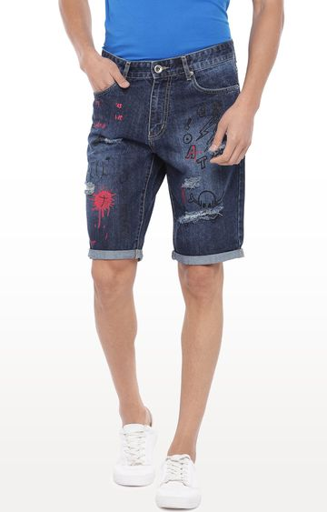 globus | Blue Printed Shorts