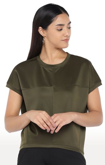 globus | Olive Solid Top