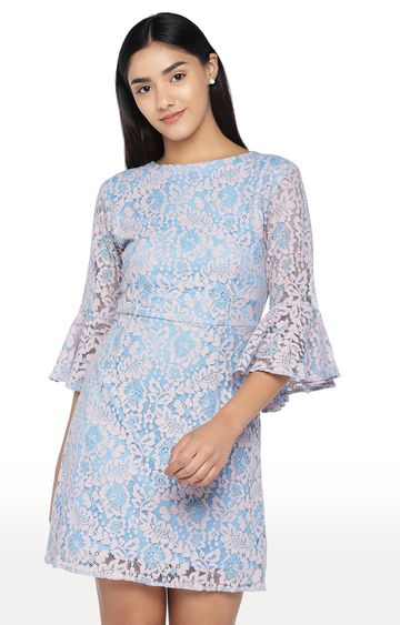 globus | Pink and Blue Printed Skater Dress