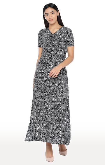 globus | Black Printed Maxi Dress