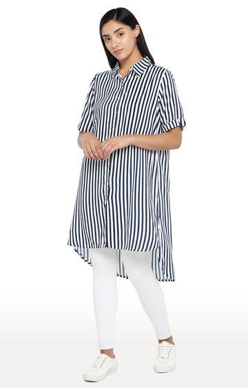 globus   Blue Striped Tunic