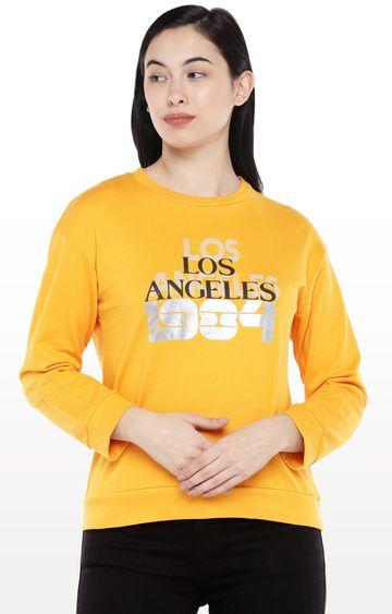 globus | Yellow Printed Sweatshirt