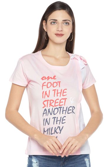 globus | Pink Printed T-Shirt