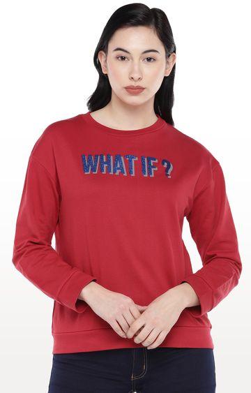 globus | Red Printed Sweatshirt