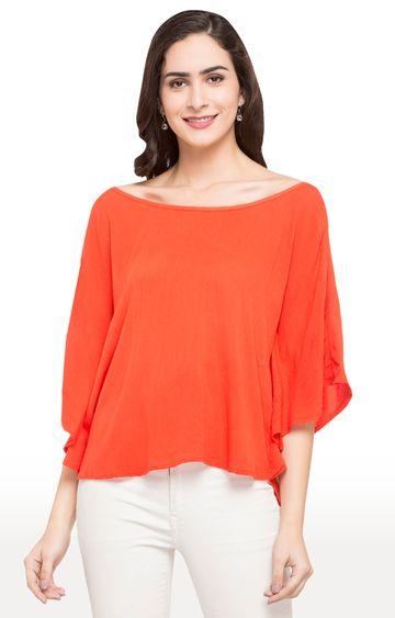 globus   Orange Solid Top
