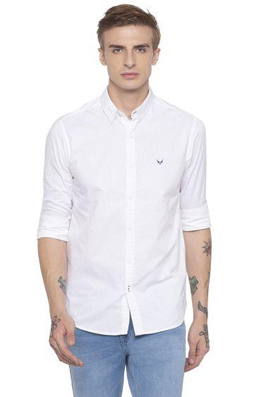 globus | White Striped Casual Shirt