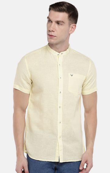 globus | Yellow Solid Casual Shirt