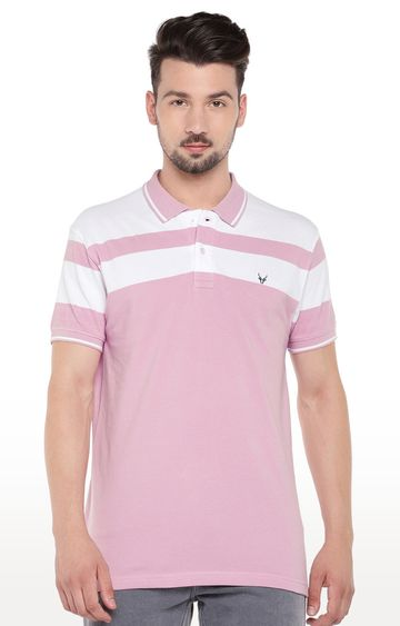 globus | Pink Striped Polo T-Shirt