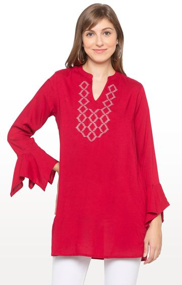 globus | Red Solid Tunic